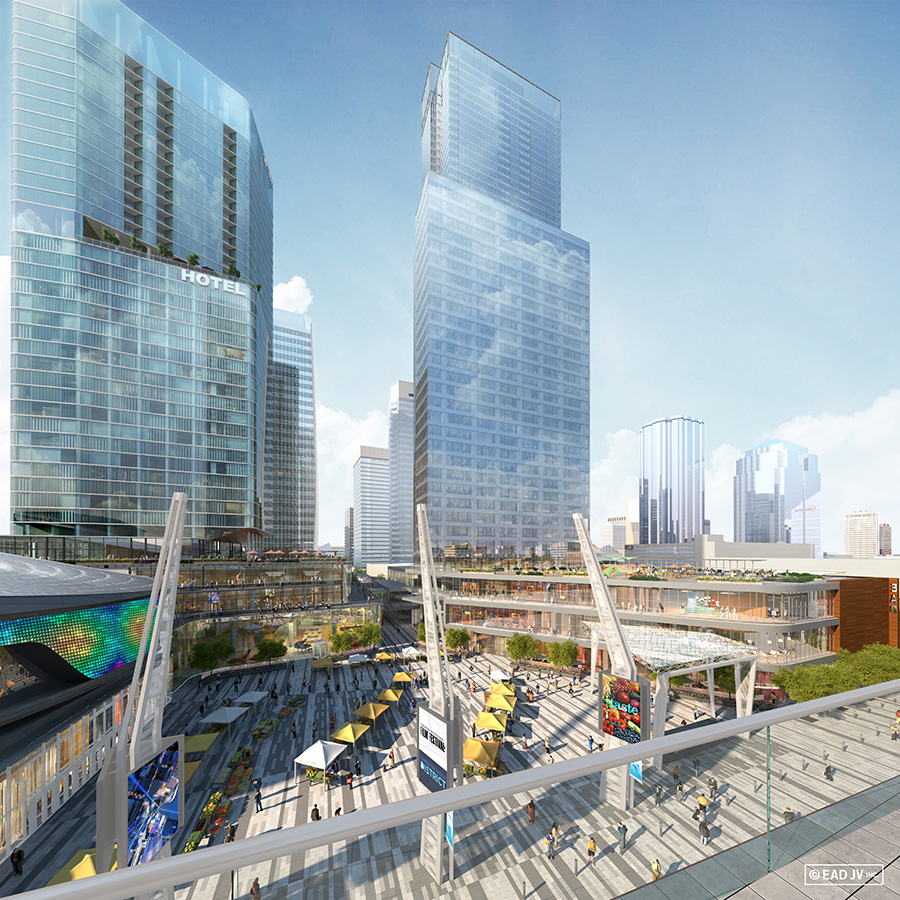 Renderings arena district for Balcony 417 rogers arena