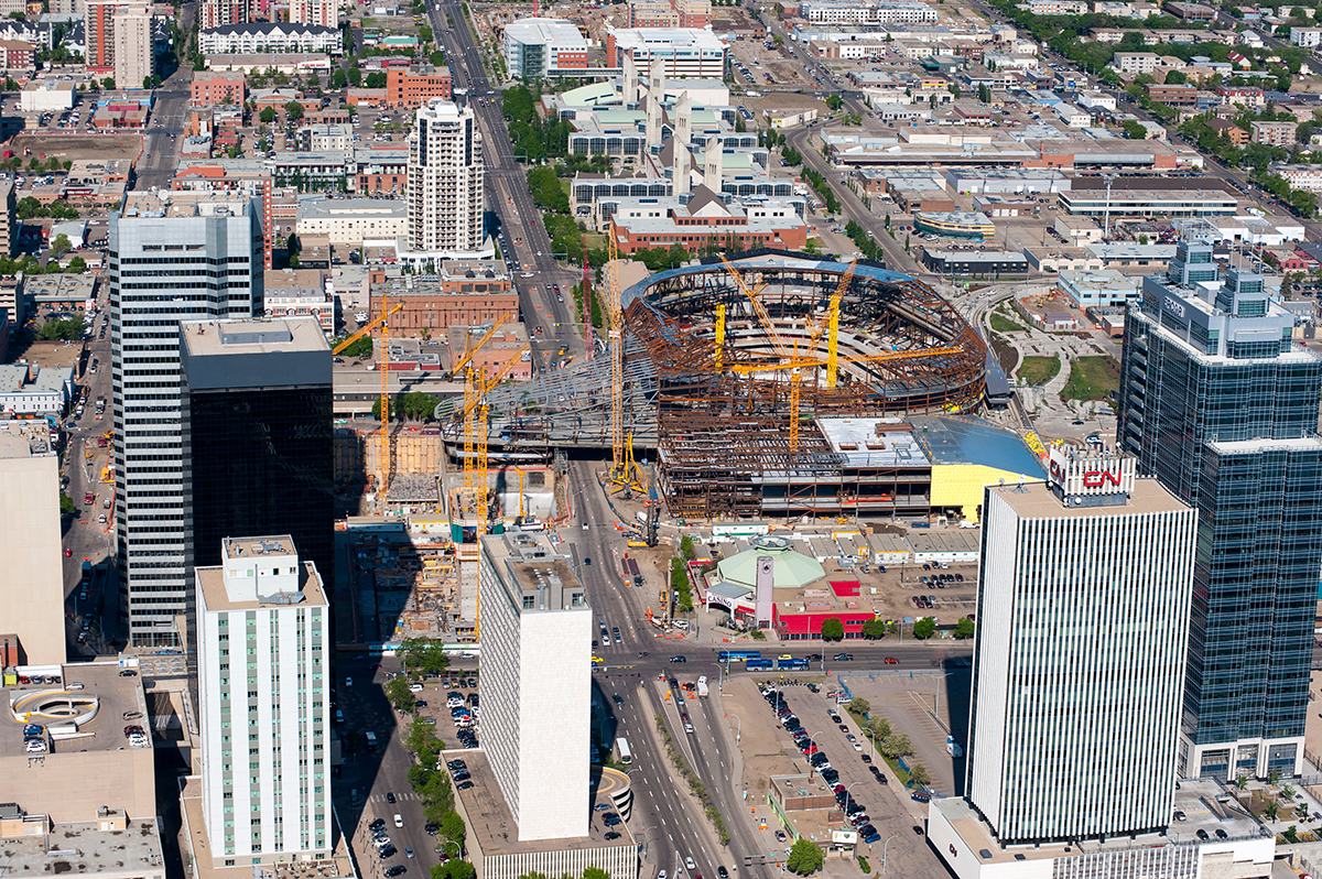 Gallery Rogers Place Construction Helicopter Shoot