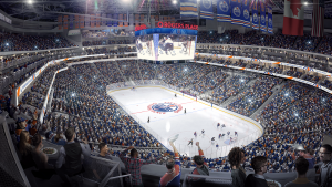 A rendering of the inside of Rogers Place.