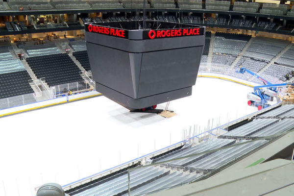 A view of the bowl from the Loge Level inside Rogers Place.