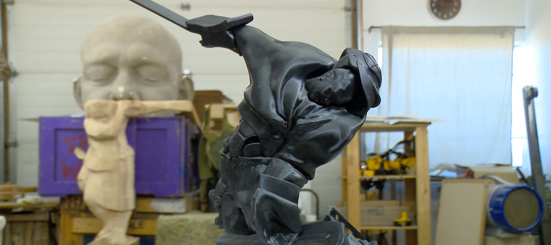 3D-printed rendering of one of the Figures in Motion.