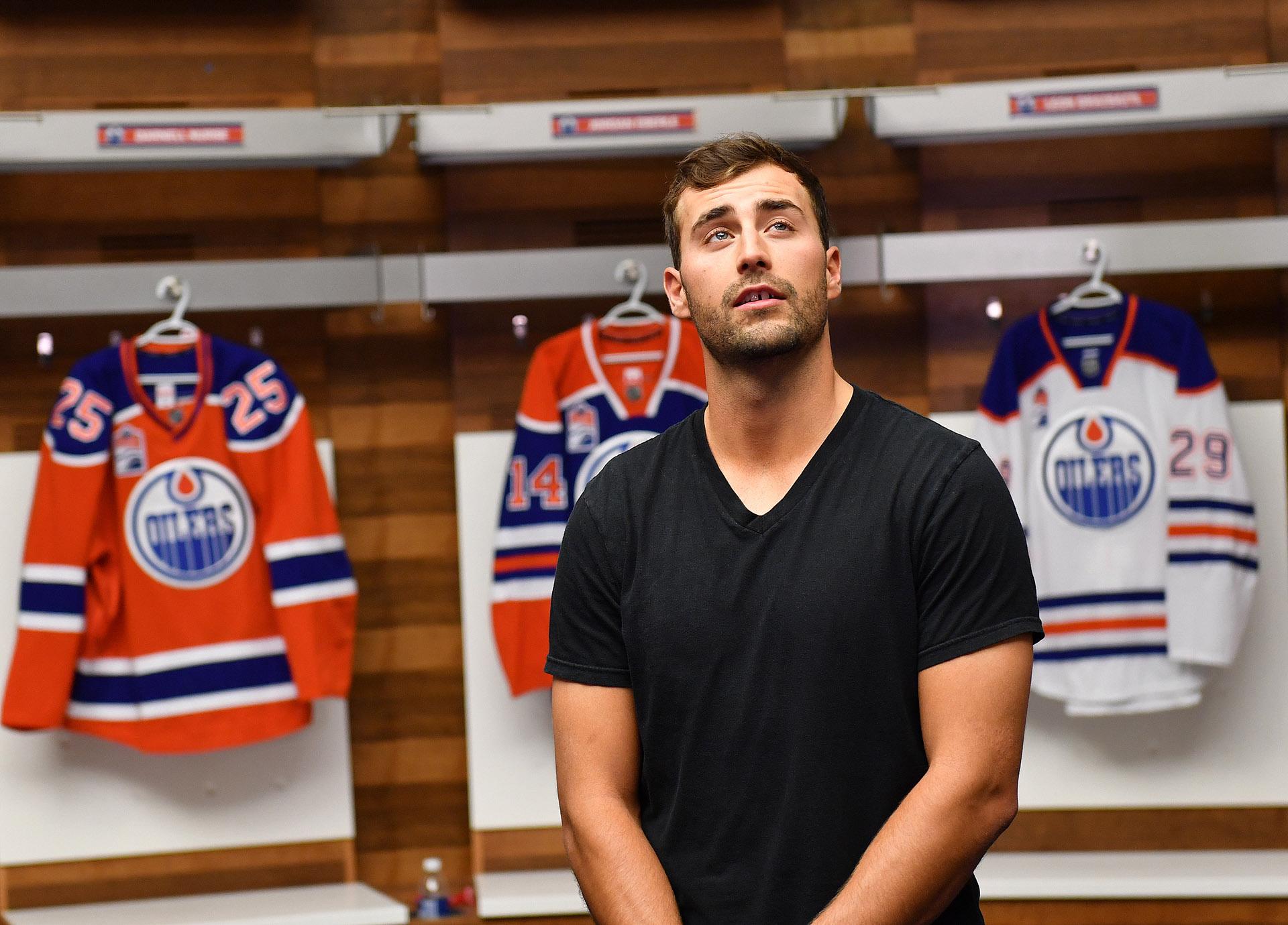 Edmonton Oilers Walk To Locker Room