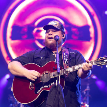 Luke Combs performing at Rogers Place